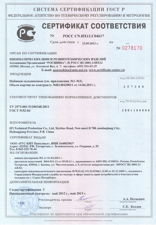 сертификат соответствия на пурпурный чай чанг шу